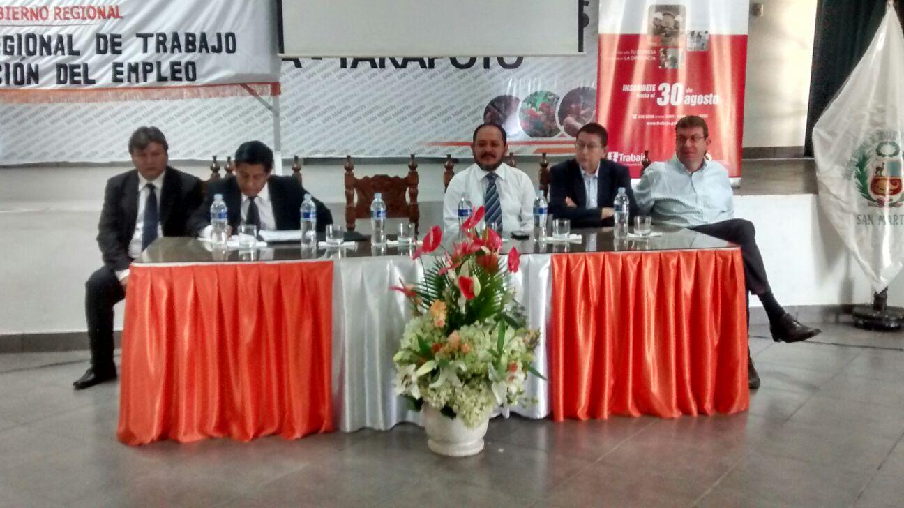 Encuentro Macro Regional Norte del Sector Trabajo se desarrolló en San Martín