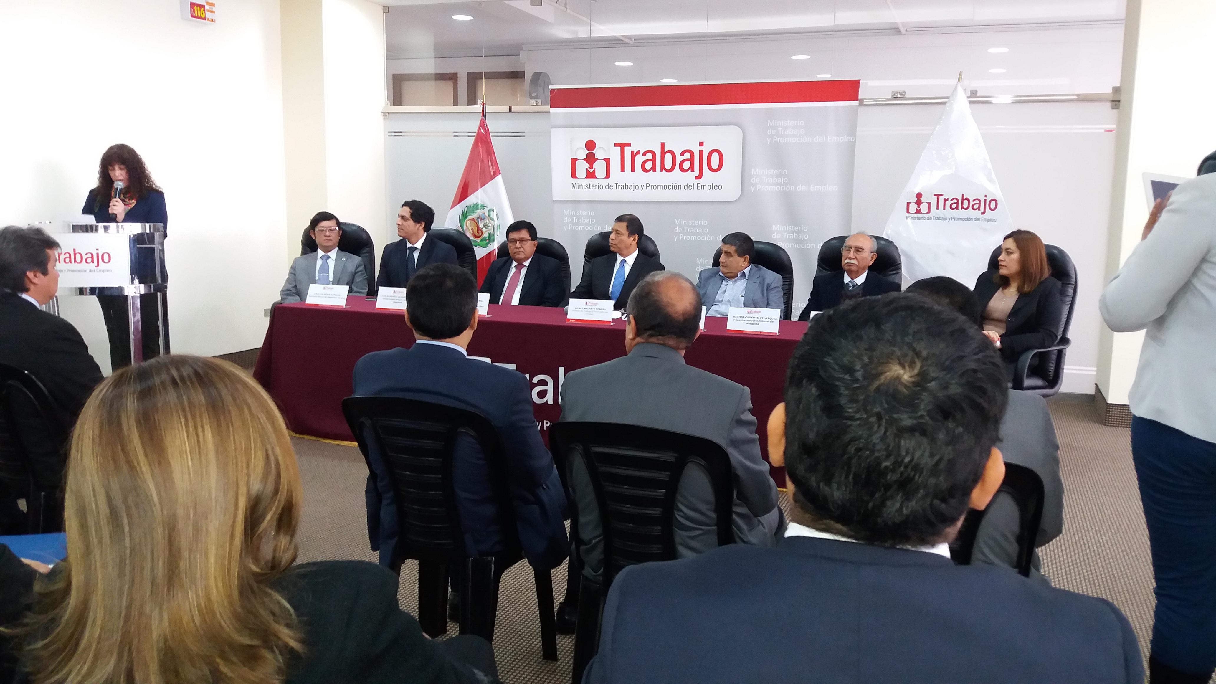 Ministerio de Trabajo y Promoción del Empleo y el Gobierno Regional de San Martín suscriben Convenio Intergubernamental