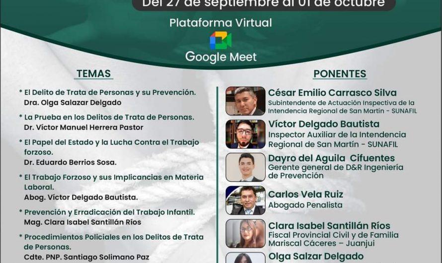 """Congreso Virtual Regional """"Trata de Personas y Trabajo Forzoso"""